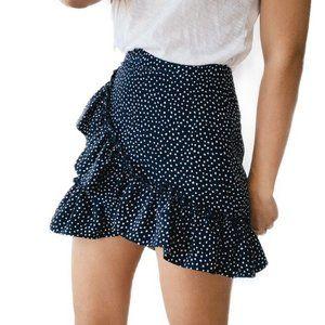 Topshop Polka Dot Frill Mini Skirt